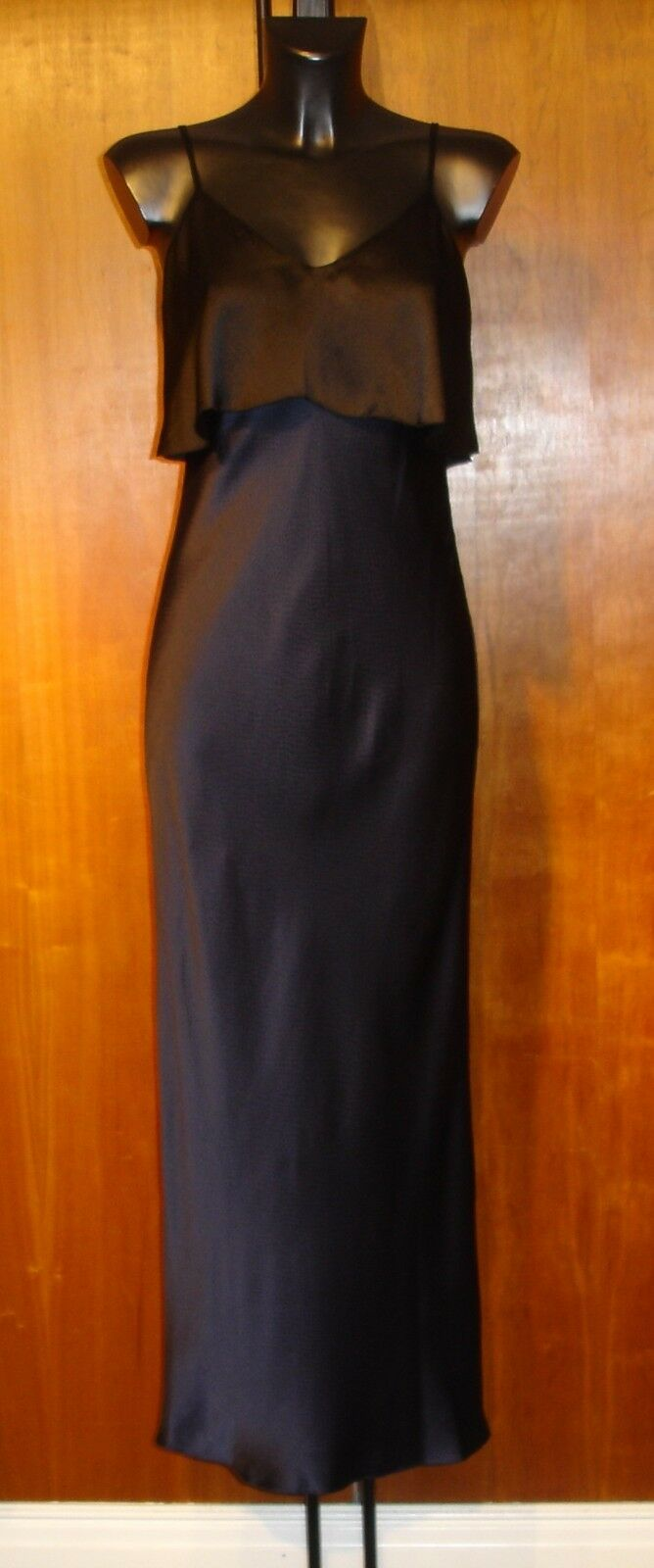 Dvf Diane Von Furstenberg Soie Alexandre blue et black Robe Maxi