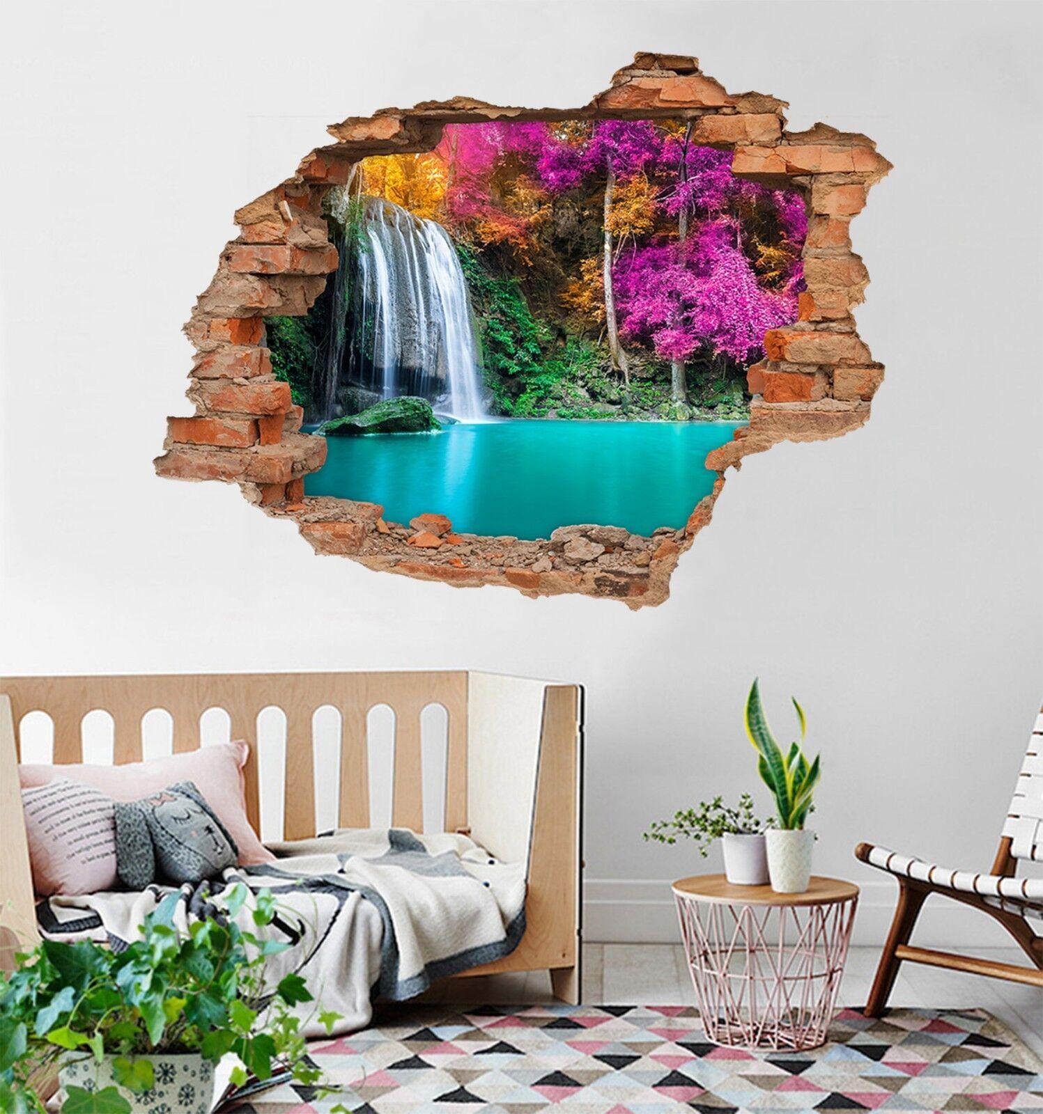 3D Wasserfall 115 Mauer Murals Mauer Aufklebe Decal Durchbruch AJ WALLPAPER DE