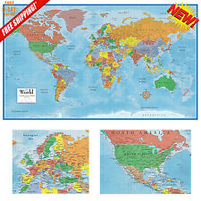 X World Classic Premier D Wall Map Poster Paper Folded EBay - Huge classic world map