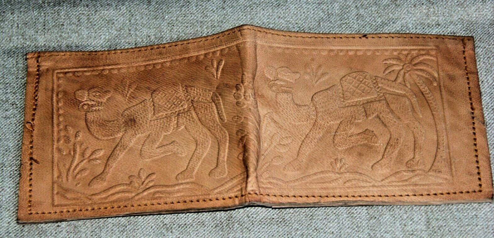 Brieftasche Portmonnaie Geldbeutel braun Kamelleder Handgefertigt - Indien