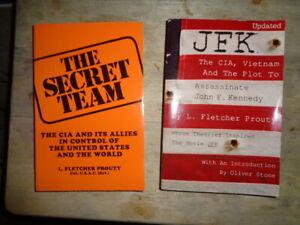 SECRET-TEAM-JFK-amp-The-CIA-L-Fletcher-Prouty-2-TPB-Oliver-Stone-BIN-bonus-book