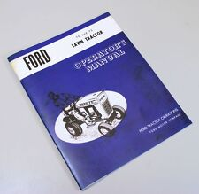 FORD 70 75 LAWN TRACTOR OWNERS OPERATORS MANUAL GAS RIDING RIDER MOWER GARDEN