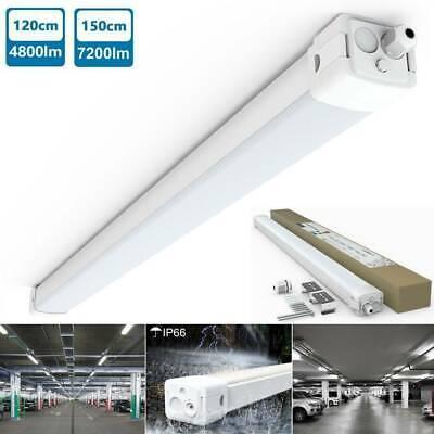 150 cm Röhre Keller Werkstatt 120 LED Feuchtraumleuchte Wannenleuchte 60