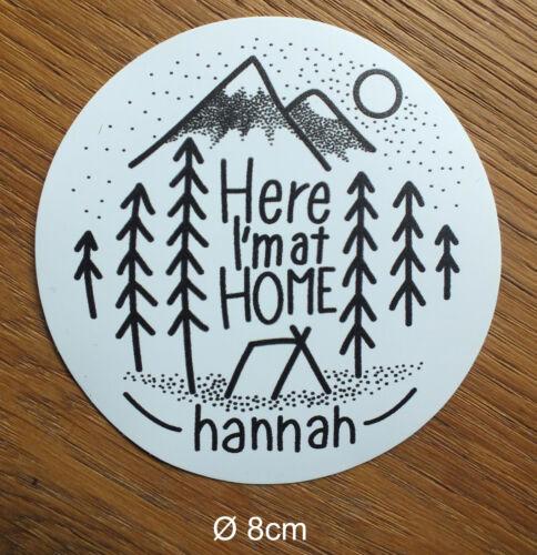 A039 Hannah Sticker Aufkleber Camping Adventure Mountain Climb Outdoor
