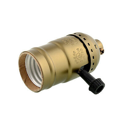 Hot Retro Edison E26/E27 Bulb Aluminum Shell Base Lamp Holder Knob Switch 250V