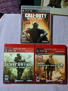 Call of Duty PS 3 Video Game Lot Modern Warfare / Modern Warfare 2 / Black Ops 3