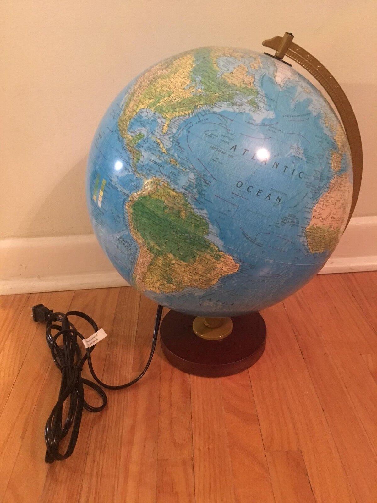 Replogle Livingston 12  bluee Illuminated Desk Globe