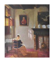 Hugo Krings Kunstdruck Bild Poster hochwertiger Lichtdruck Junge Mutter 58x48cm