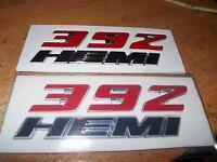 Dodge 392 Hemi Red And Chrome Factory Original Emblem Set 392 Hemi Engine Oe