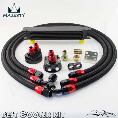 Universal 7 Rows Oil Cooler Kit  For Honda Civic Subaru Impreza WRX STI
