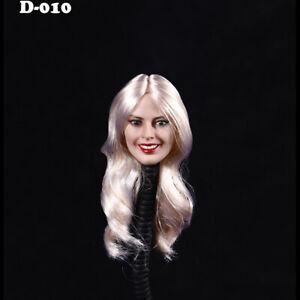YMT011A 1/6 Female Golden Short Hair Head Sculpt Fit 12