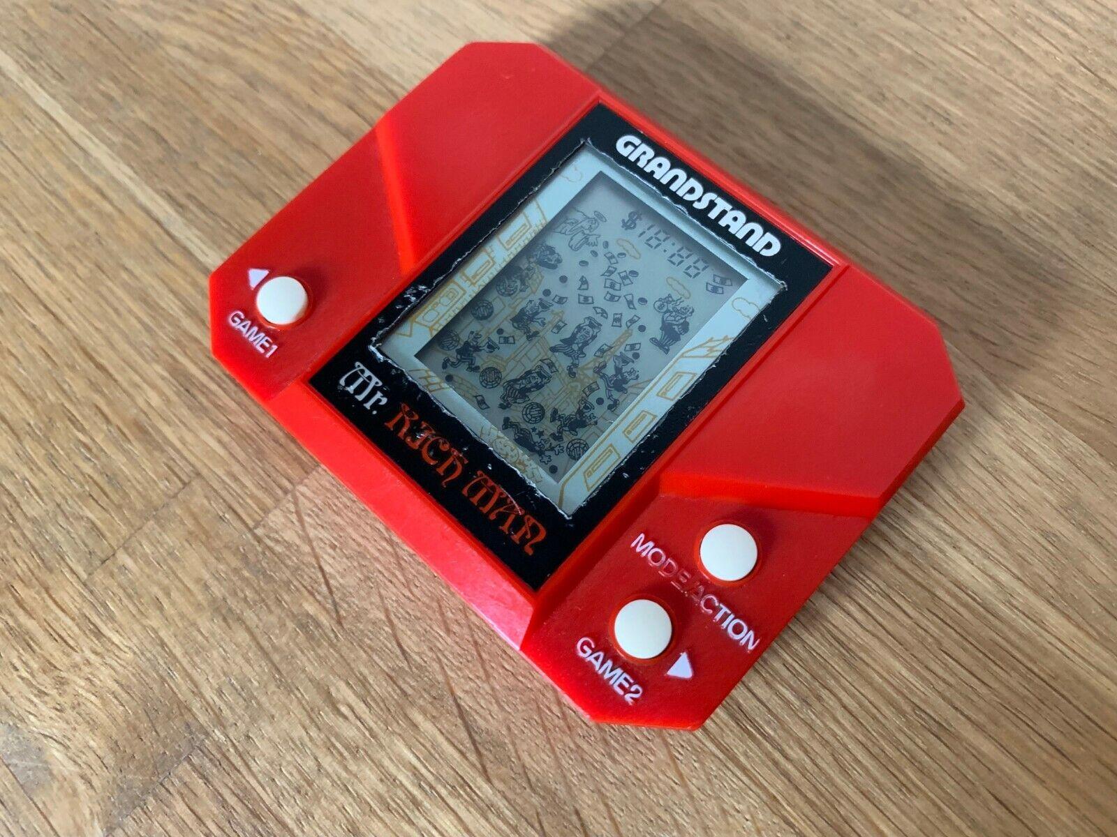 Grandstand el señor Rico Vintage 1982 LCD Portátil Juego Electrónico-Excelente Cond.