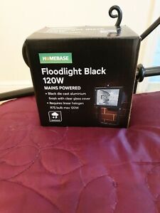 120w homebase OUTDOOR security floodlights black-mains powered