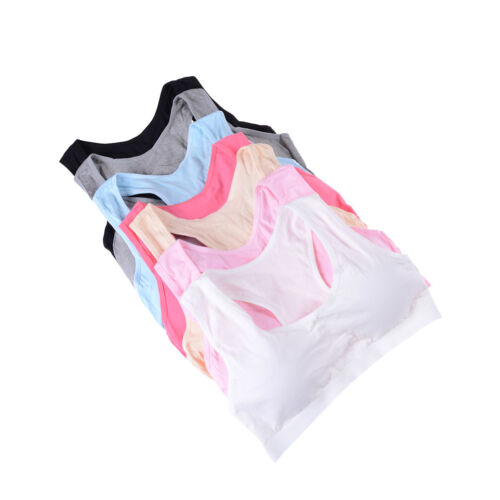 Baby Girl Cotton Bras Young Girls Underwear For Sport Training Puberty Bras cp