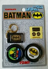 Vintage Tomy 1989 DC Comics Batman UFO, Keychain, Stickers #3~ Cosmic Artifacts