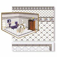 Dollhouse Miniature Complete Room Floor & Wall Kit 9 By World Model Miniatures