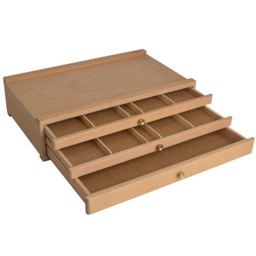 Holz Malkoffer Malkasten Stiftekoffer Künstelerkoffer Materialkoffer Holzkasten