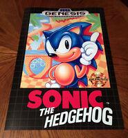 Sonic The Hedgehog Sega Genesis Box Case Art Retro Video Game 24 Poster Print