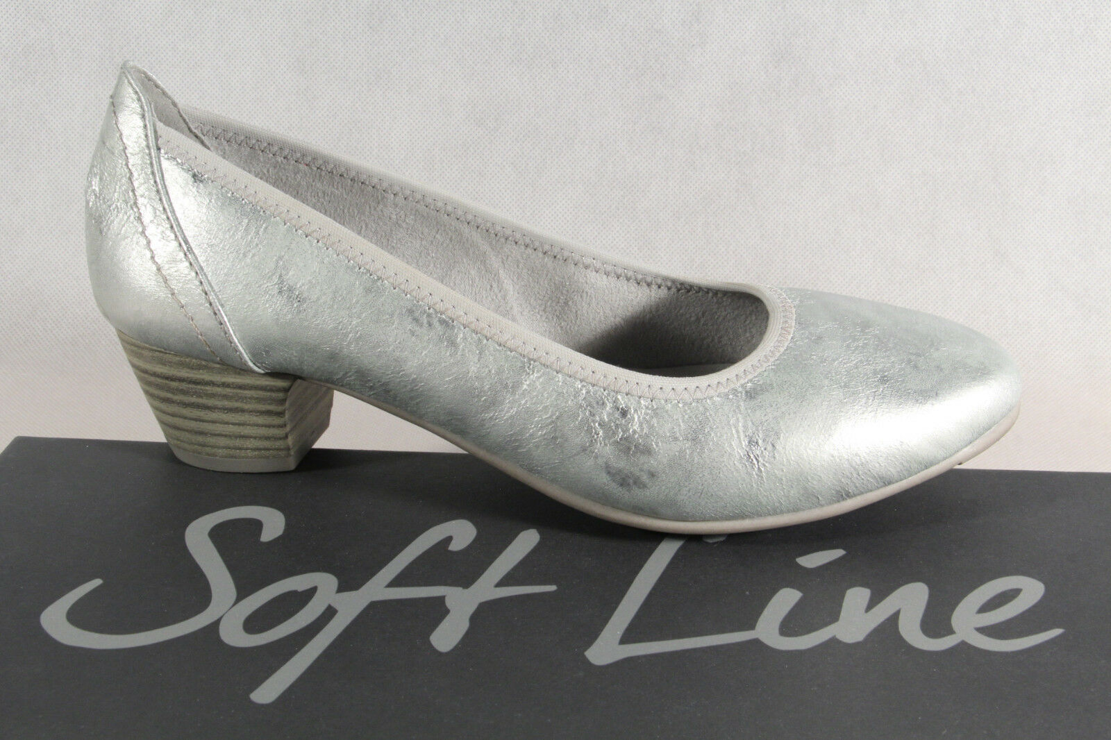 Soft Line by Jana Women's Pumps Slippers Ballerinas Grey Width H New