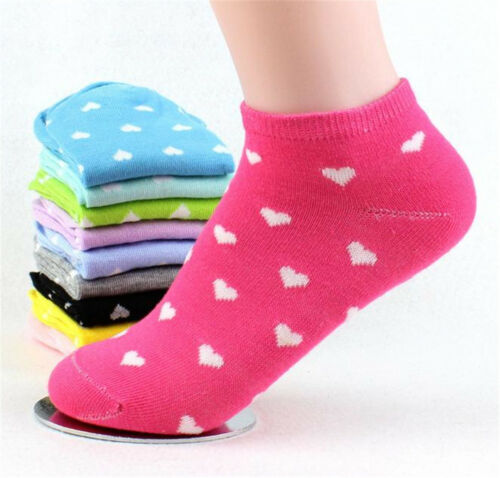 5 Pairs Packed Heart women/'s Socks Casual cotton Short Socks Size 5-8#
