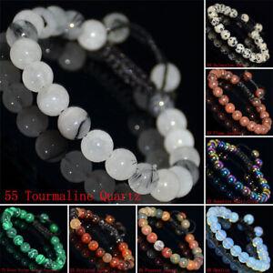 8mm-Natural-Gemstones-Braided-Macrame-Beads-Bracelet-Adjust-Handmade-70-Styles