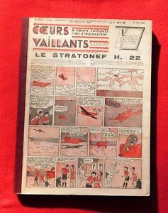 Cuori-Vaillants-Anno-1938-Complete-N-1-con-52-Tintin-Mistero-di-Aereo-Grigio