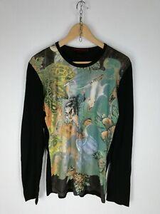 ROBERTO-CAVALLI-Maglia-Maniche-Lunghe-Polo-Shirt-Maglia-Tg-52-Donna-Woman