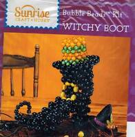 Black Witch Boot Bubble Beads Kit Halloween Craft Herrschners Spooky Large Decor