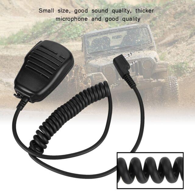 2 Pin K Head Handheld Walkie Talkie Radio Speaker Mic Hand Microphone 3.5mm Plug