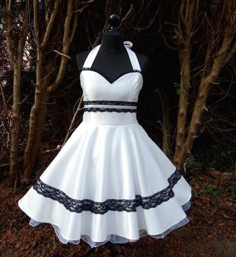 Petticoat 50er Braut Hochzeit Fest Konfirmation Jugendweihe Kleid Dress nach Maß