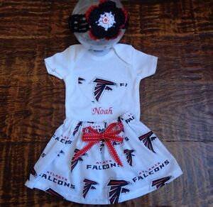 Dallas Cowboys Baby Girl Skirt Personalized Bodysuit and Headband.