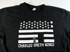 670777f2f Image is loading American-Apparel-CHARLES-SMITH-Wines-Mens-Graphic-T-