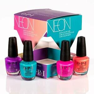 Details About New Limited Edition 4 X Opi Nail Polish Neon Summer 2019 4pcs Mini Gift Set