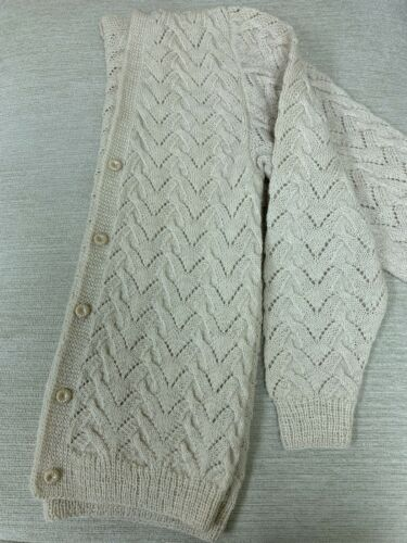100% Wool Alpaca Cardigan Sweater - Handmade!