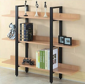 Image Is Loading Modern 3 Level Tier Bookcase Storage Display Furniture