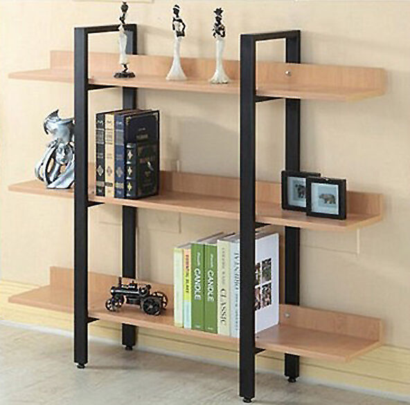 Modern 3 Level Tier Bookcase Storage Display Furniture Bookshelf Shelf Stand