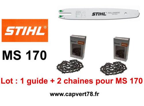 STIHL Guide et 2 chaines Pour MS170