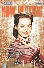 TCM NOW PLAYING magazine OLIVIA DE HAVILLAND cover story with ROBERT OSBORNE