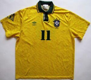 6d2a3b50f Brazil  11 Romario 1993 World Cup 1994 Umbro shirt camiseta maglia ...