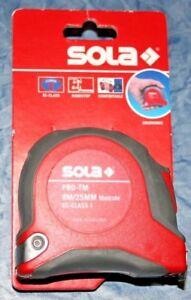 SOLA-Rollmeter-PRO-TM-8-Meter-Stahlband-EG-Genauigkeitsklasse-I