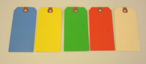 125  COLORED BLANK SHIPPING HANG TAGS SCRAPBOOK GIFT INVENTORY PAPER LABEL