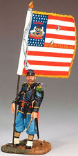 KING & COUNTRY CIVIL WAR CW036 UNION SERGEANT WITH FLAG MIB