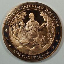 History of the U.S. Lincoln-Douglas Debates (1858) Proof Bronze Medal