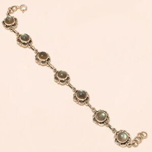 925-Solid-Sterling-Silver-Charming-Best-Quality-Labradorite-Bracelet-Size-034-7-00-034