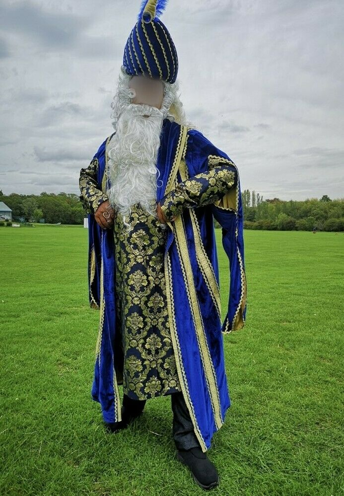 Professional theatrical stage costume of oriental wizard