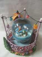 Disney Store Donald Duck Huey Dewey Louie Tea Cup Ride Snow Globe Rare Working