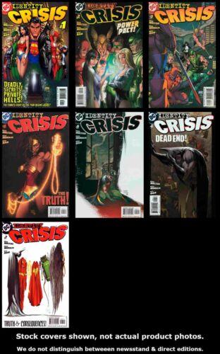 Identity Crisis 1 2 3 4 5 6 7 DC 2004 Complete Set Run Lot 1-7 VF//NM