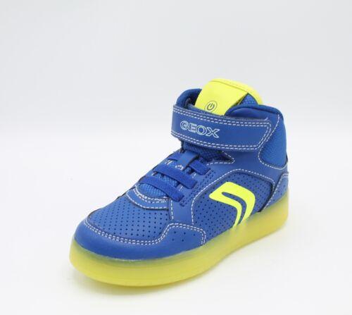 Scarpe con Luci Led da Bambino Geox Kommodor Strappo Sneakers Alte Bimbo Junior