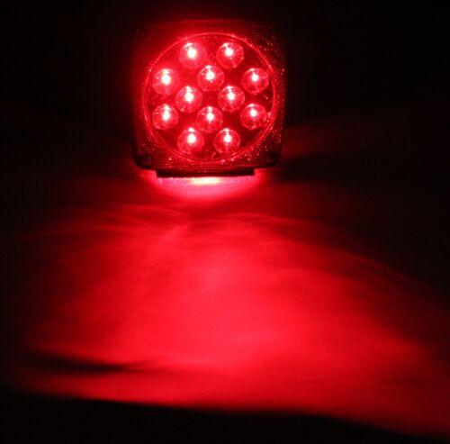 Waterproof Red Submersible Trailer Boat LED Light w Kits /& License Illuminator