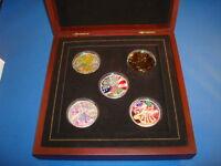 2005 Ultimate Silver Eagle Collection (Colorized) Presentation Box & COA (#Tn09)